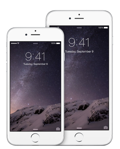 The iPhone 6 Plus feels significantly bigger than the iPhone 6, which itself if much bigger than the iPhone 5S (Source: Apple.com)