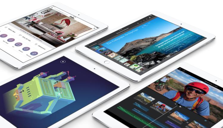 The new iPad Air 2 (Source: Apple.com)