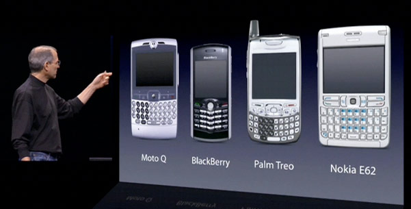 Smartphones were ripe for an Apple styledisruption when the original iPhone was launched in 2007 (Source: fromedome.com)