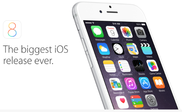 Apple's most recent iOS, iOS 8 has been plagued with bugs, that Apple has been struggling to squash(Source: Apple.com)