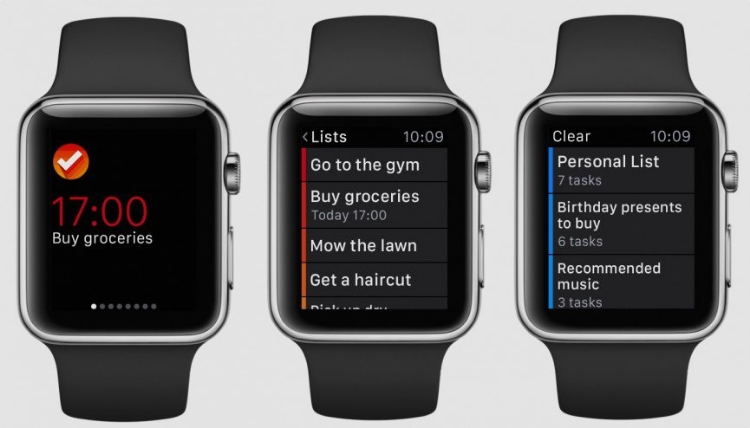 Clear App on the Apple Watch (Source: Wareable.com)