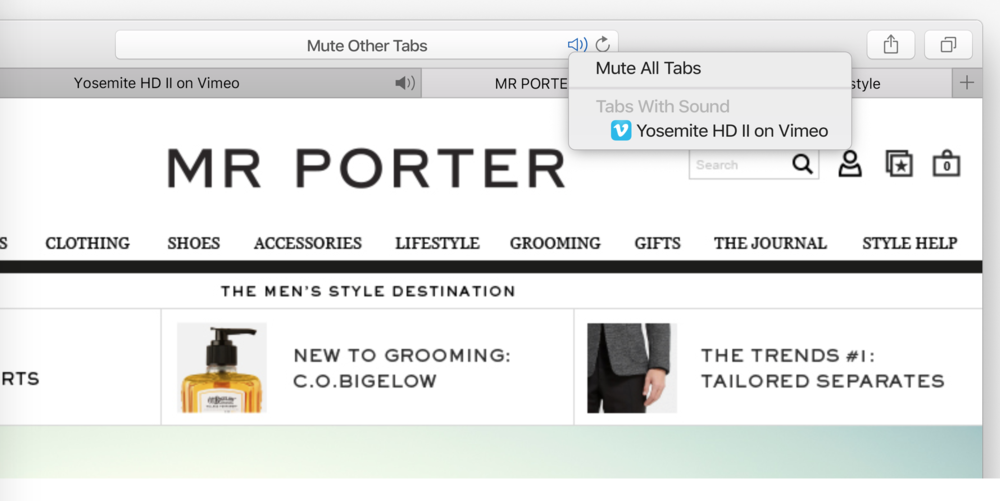 A nifty little Safari add on to mute tabs on Mac OS X El Capitan (Source: Apple.com)