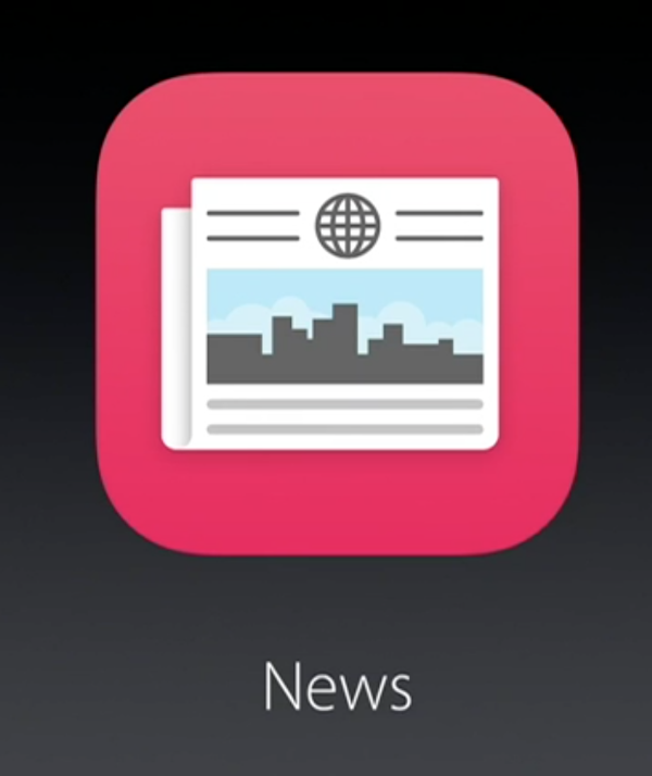 "Apple's new news App called ""News"" (Source: Apple.com)"