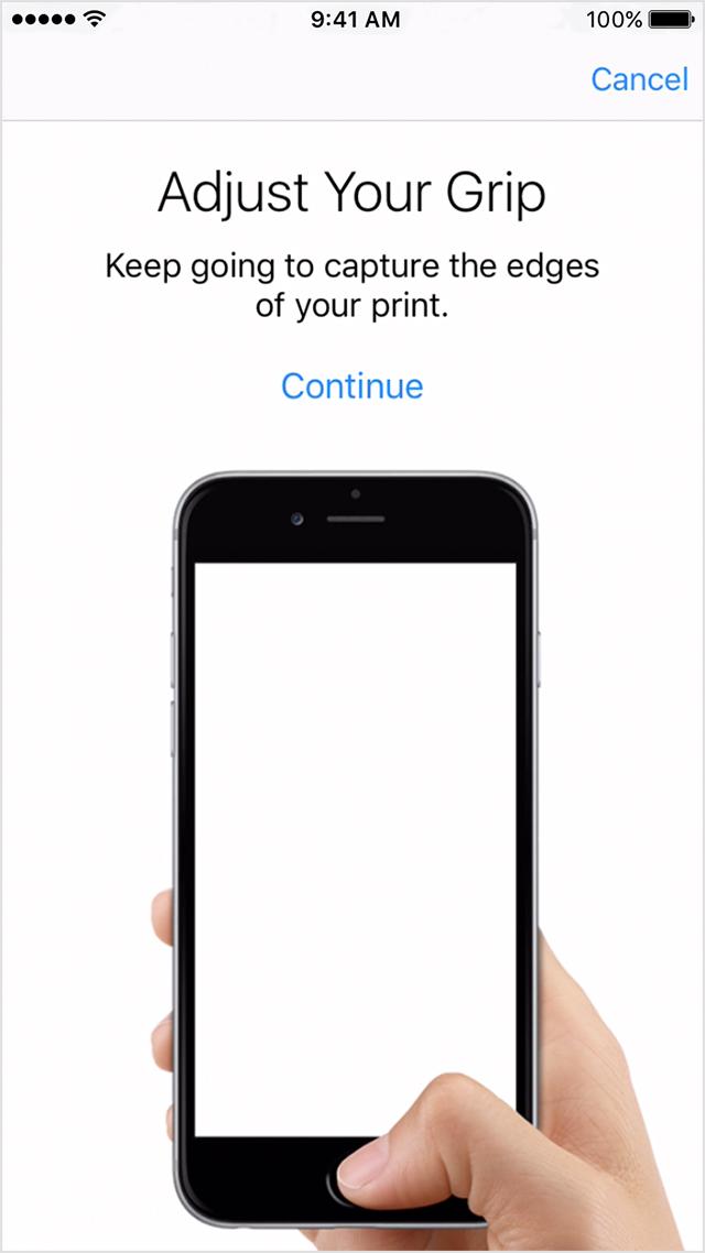 iOS's Touch ID setup (Source: Apple.com)