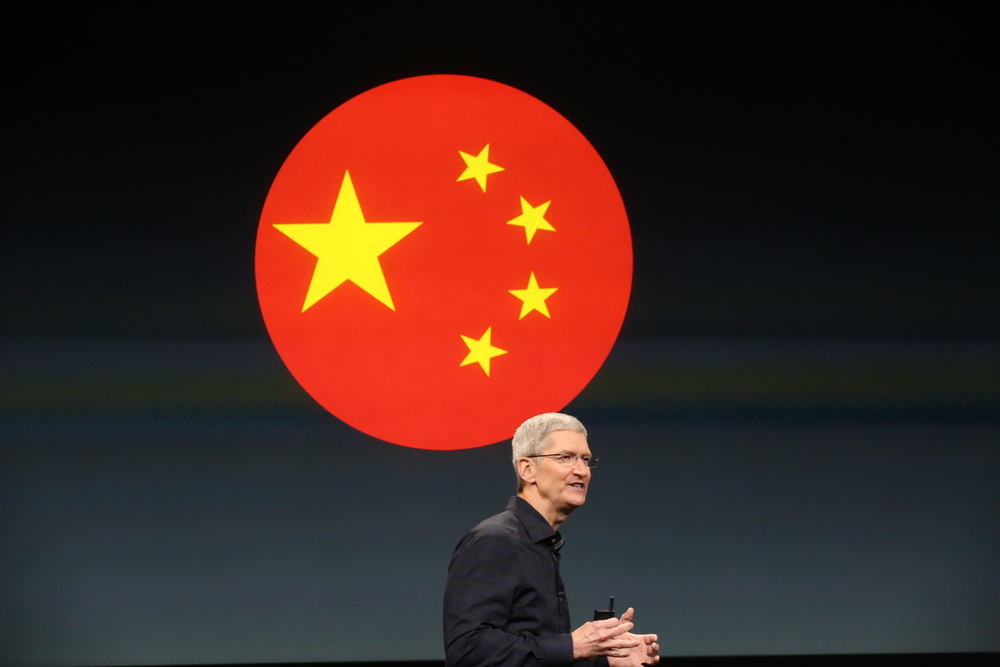 Apple sales in China fell by 33% (Image source: TechCrunch.com)