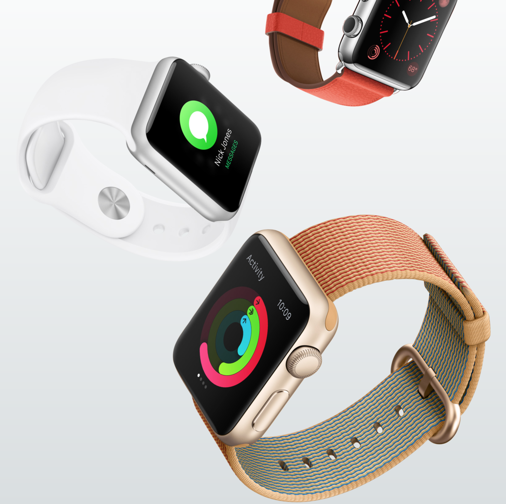 Though the Apple Watch is expected to be upgraded this Fall to newer hardware, rumors on this topic have been lacking (Image source: Apple.com)