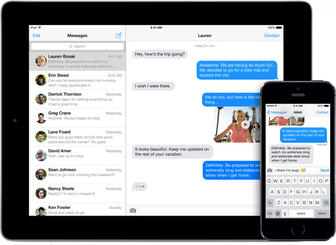 Apple iMessage (Source: AnandTech)