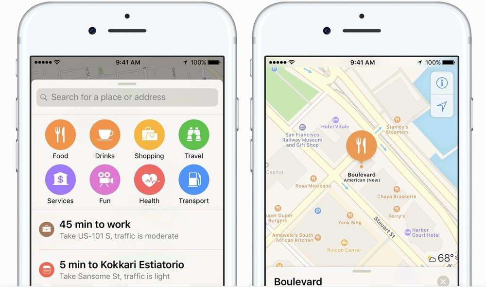 Apple Maps ( Source: Apple.com)
