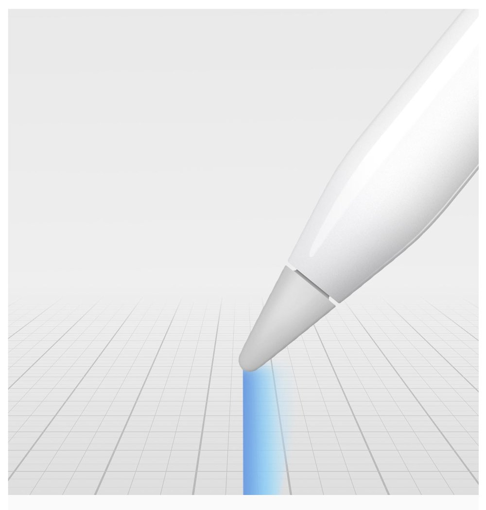 The Apple Pencil is equally responsive at all writing angles (Image Source: Apple.com)