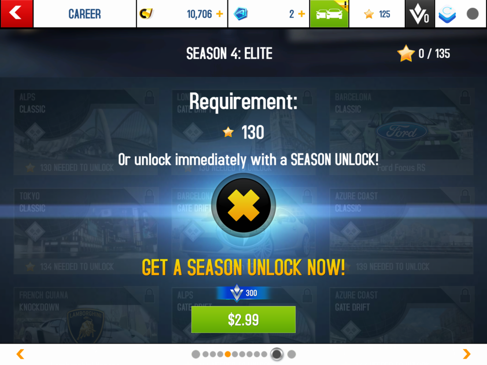 In App-purchases can be early unlocking of new seasons.
