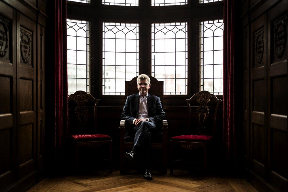 Portræt af Københavns overborgmester, Frank Jensen