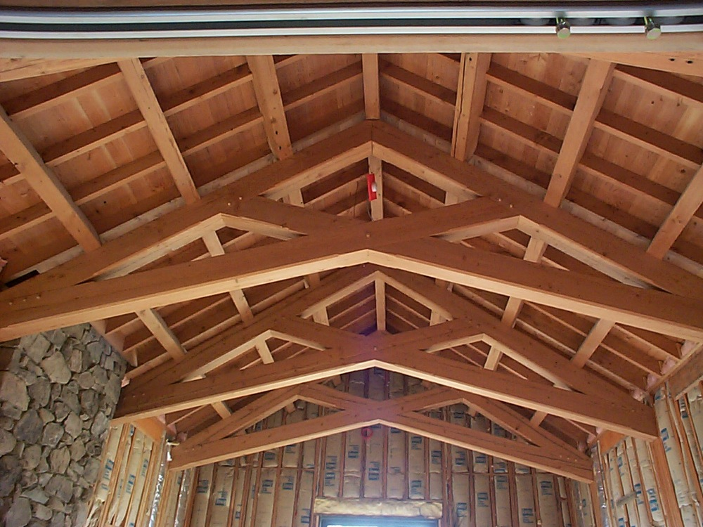 Vaulted Ceiling Design And Trusses Design Joy Studio