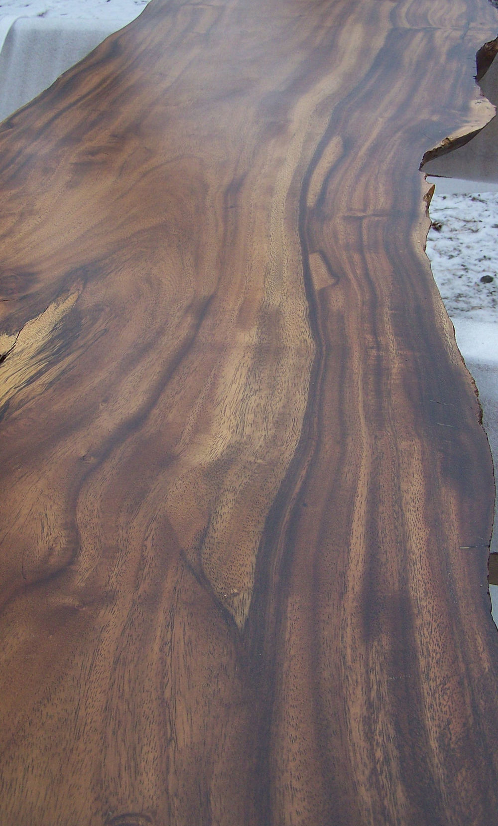 Walnut Live Edge Bench Top