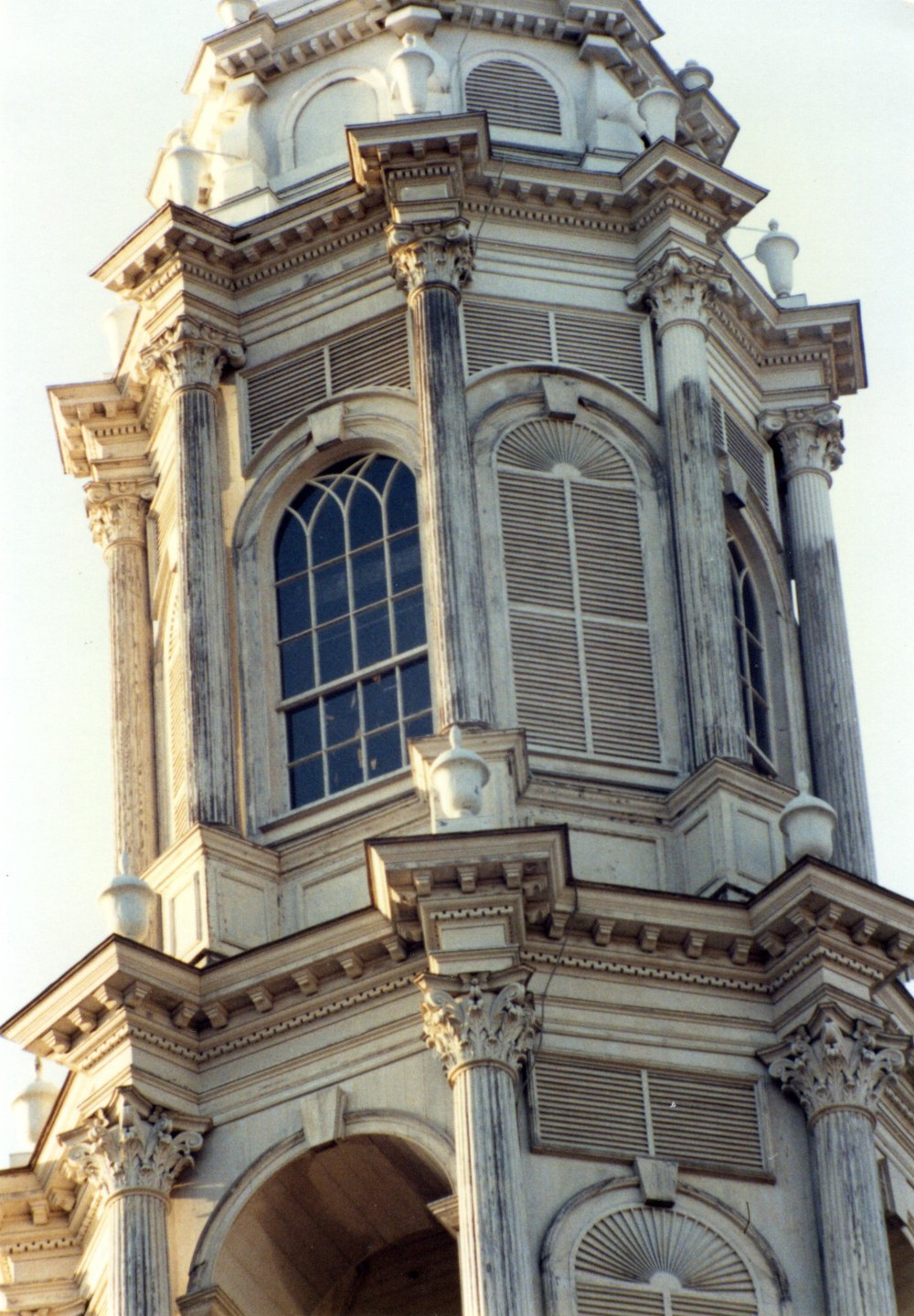 Renovation of a grand multi-cupola steeple