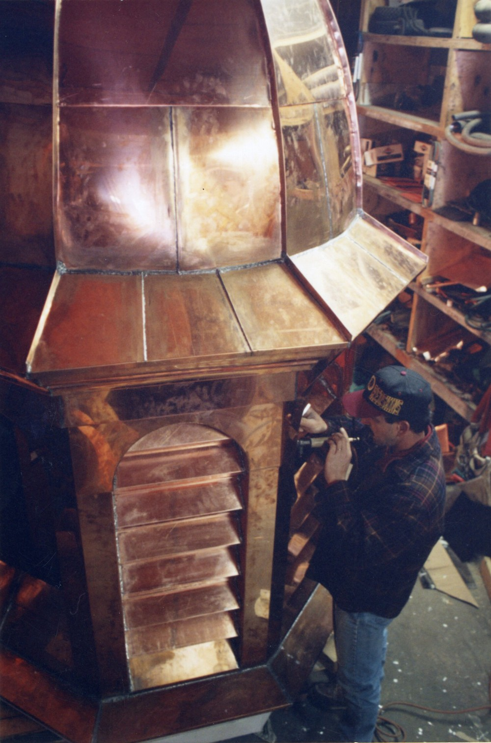 Copper clad cupola and dome