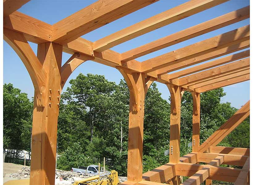 Solid oak timber frame