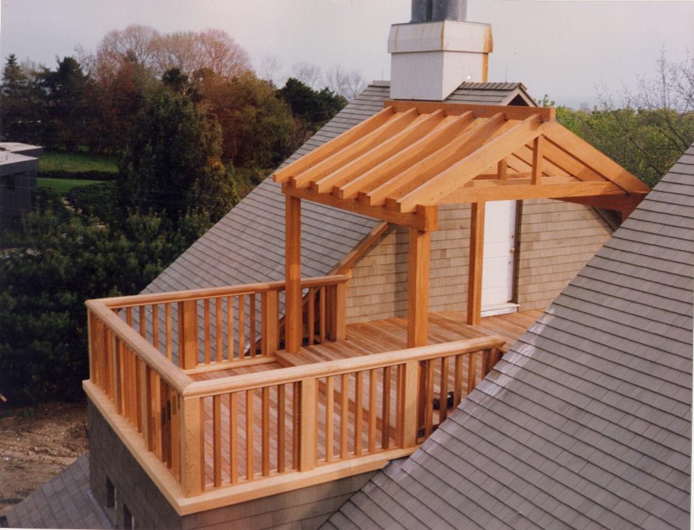 Mahogany rooftop deck