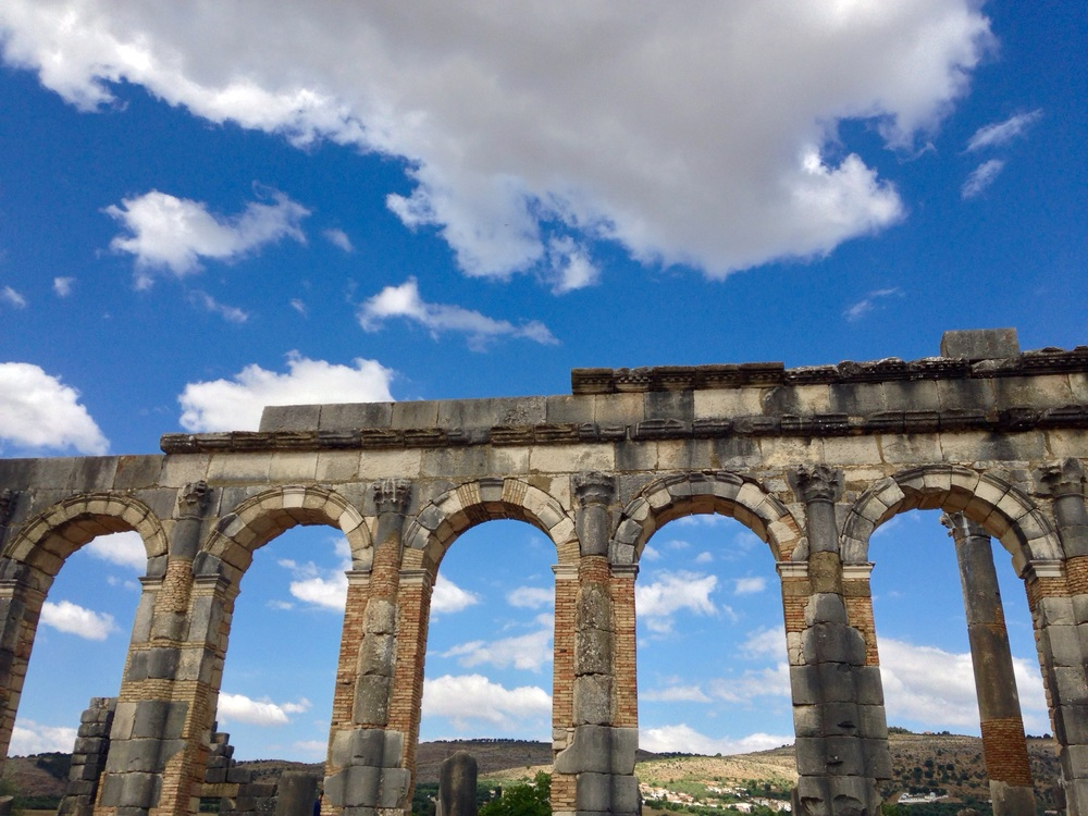Reconstructed Roman arches show the marvel of their architectural skills.