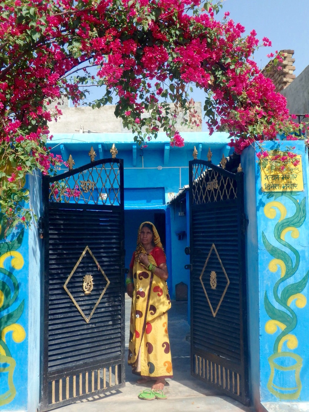 A woman at her home in a small village in Rajahstan.