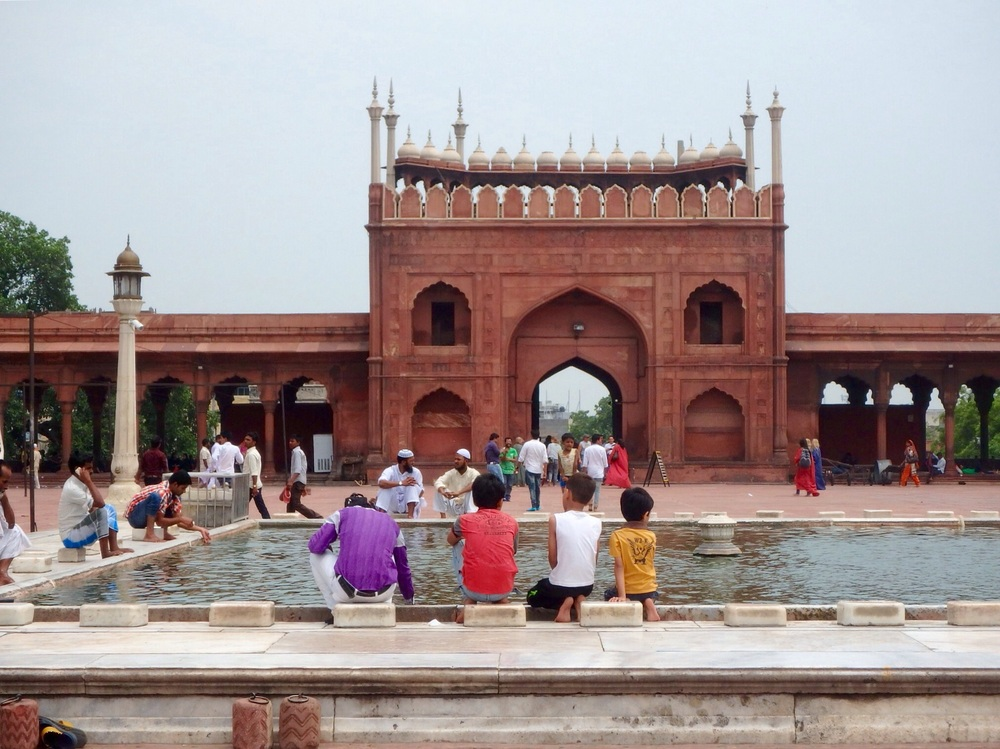 The Imperial Mosque in Delhi receives many visitors, both foreign and domestic.