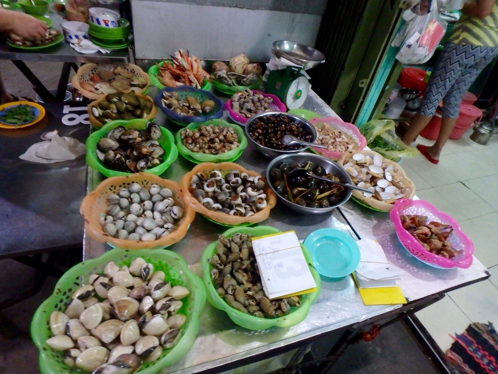 Some of the street food available for a quick, easy and cheap meal.