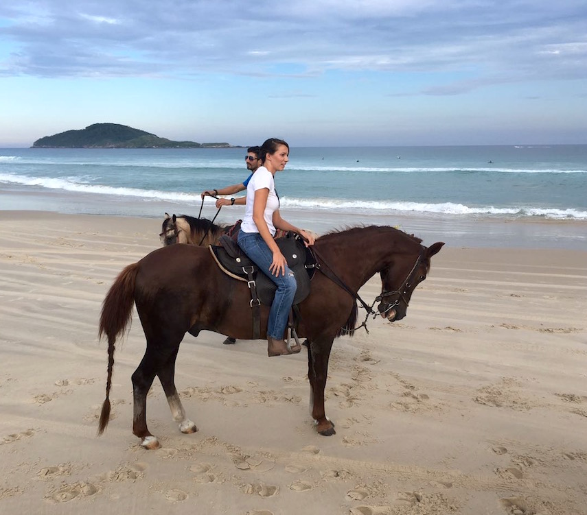 One of the many rides on the beach with Gaúcho and Eduardo.
