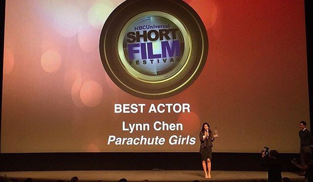 Lynn won Best Actor for Parachute Girls (watch for free on HULU) at the NBC Short  Film Festival!
