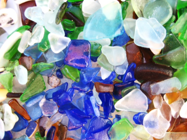 Sea glass I collected at our local beach.