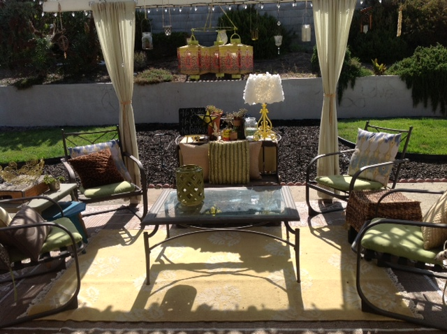 What a fabulous space Tamara (the other lady) has created for summer entertaining.