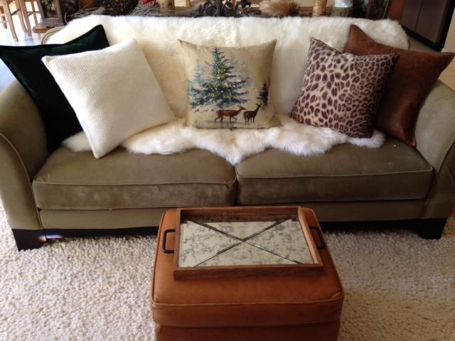 Etonnant Holiday Home Tour 2 Las A Chair. Sheepskin Throw For Sofa