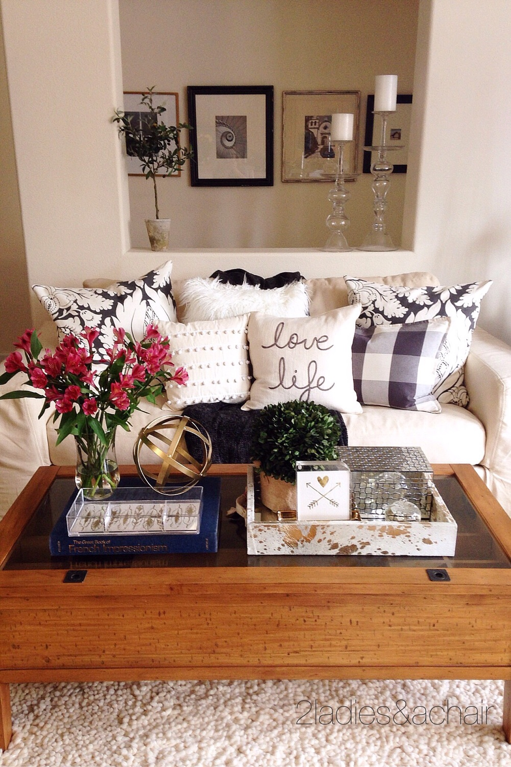 decorating your coffee table — 2 ladies & a chair