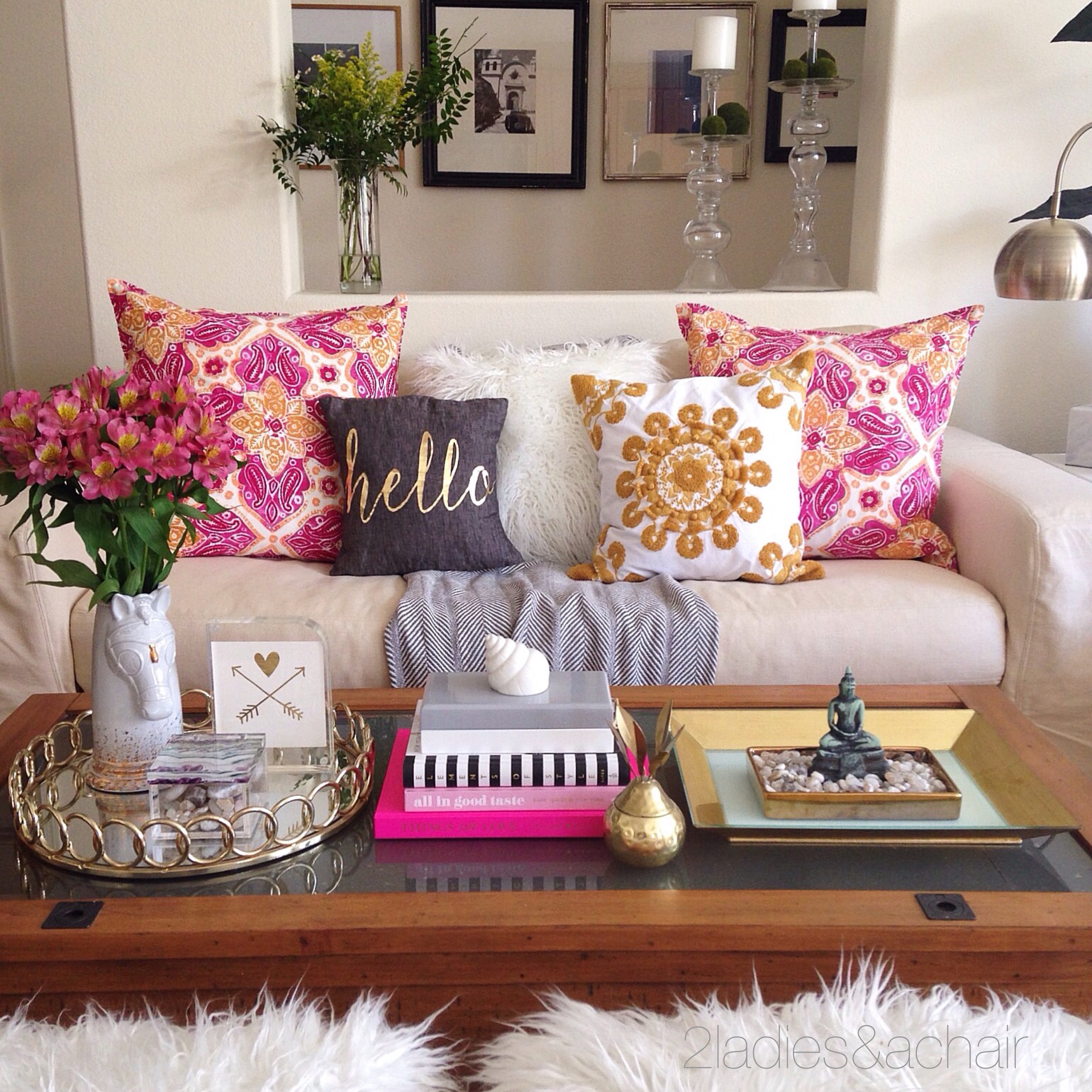 Obsession with Throw Pillows — 2 La s & A Chair