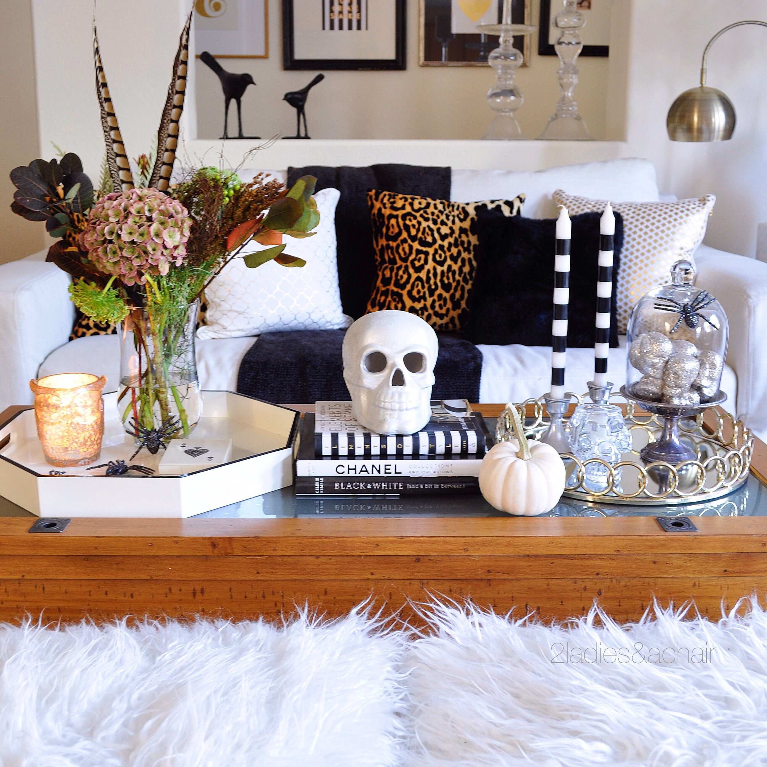 Entertaining Around the Coffee Table — 2 La s & A Chair