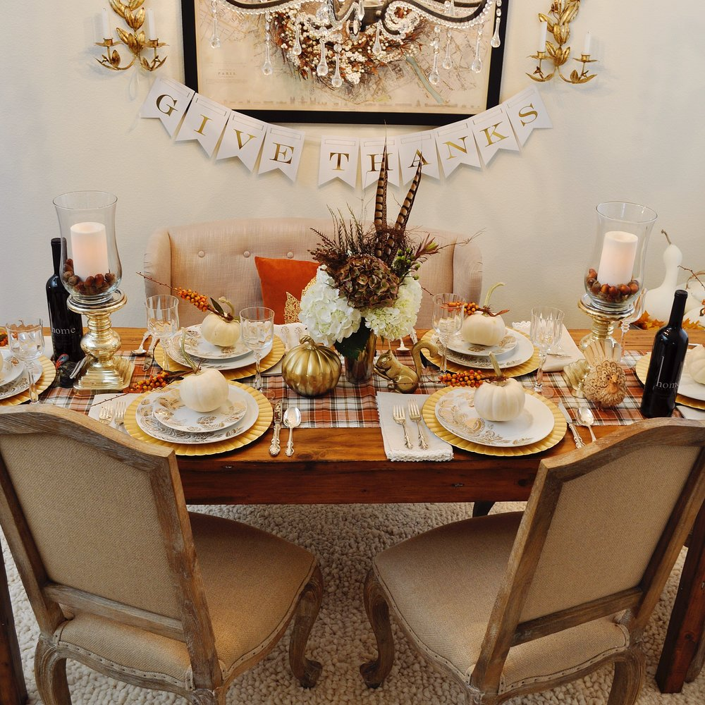 However you celebrate your Thanksgiving holiday I hope your tradition includes a beautifully set Thanksgiving table! Happy Thanksgiving! & Five Ways to Set the Perfect Thanksgiving Table u2014 2 Ladies u0026 A Chair