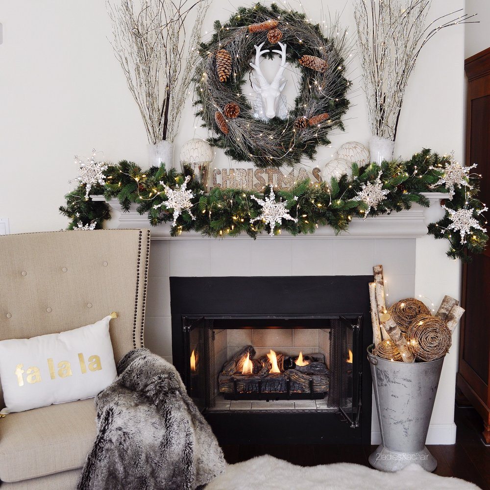 My First Tip For How To Decorate A Christmas Mantel Is Have Theme Ive Always Wanted Snowy In The Woods Since Thats Not Happening