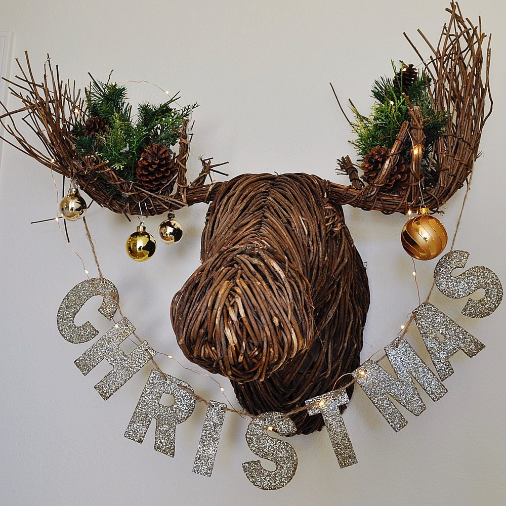 Just for a smile this Christmas moose is a nightlight in the hallway!
