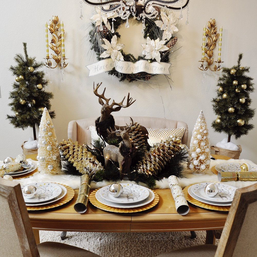 Seven Gorgeous Holiday Tablescape Ideas 2 Ladies Amp A Chair