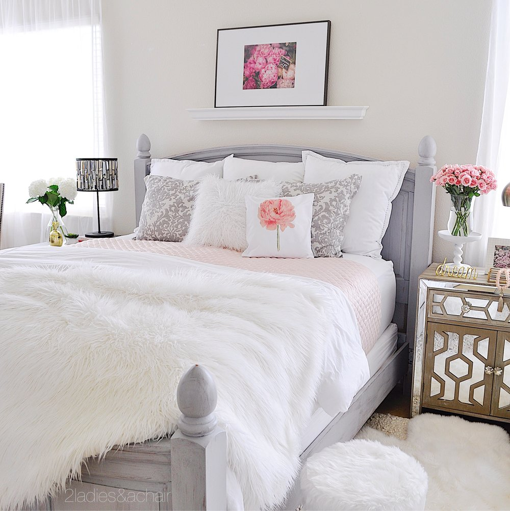 Gentil With This Palette Of White And Creamy Grey Combined With Neutrals, This  Bedroom Seems To Scream Quiet And Evoke A Sense Of Calm. I Love Having This  Space To ...