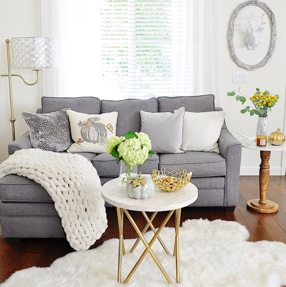 Neutral Living Room Decor for Fall — 2 Ladies & A Chair