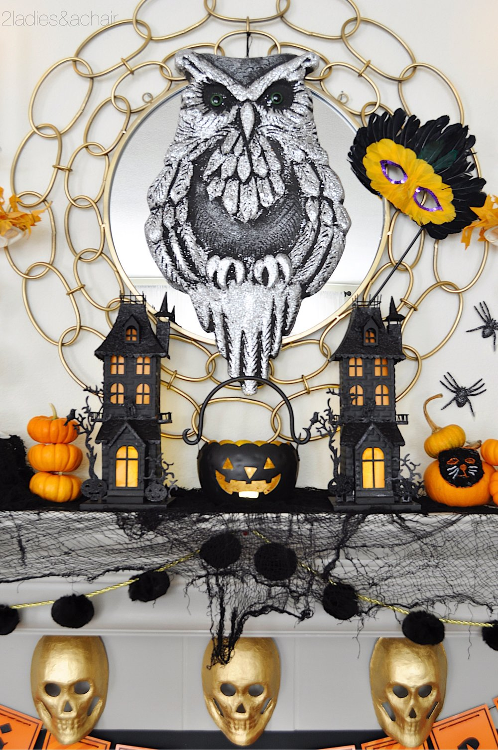 halloween mantel decorations IMG_8212.JPG