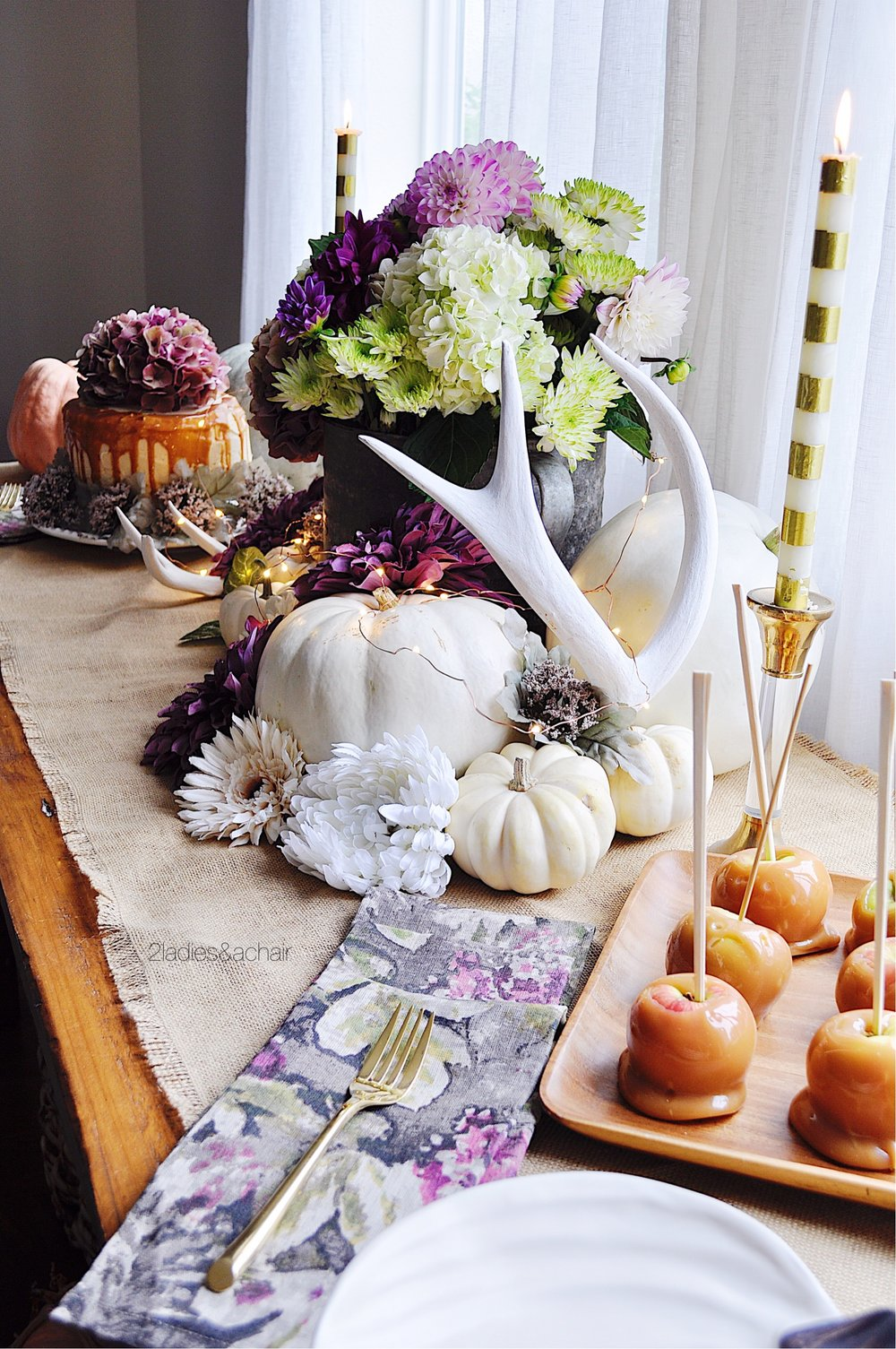 Decorating Ideas For A Fall Buffet Table 2 Ladies A Chair