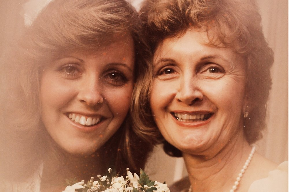 Me & my mom! This was taken years ago…. don't you love the 80's hairstyles?!