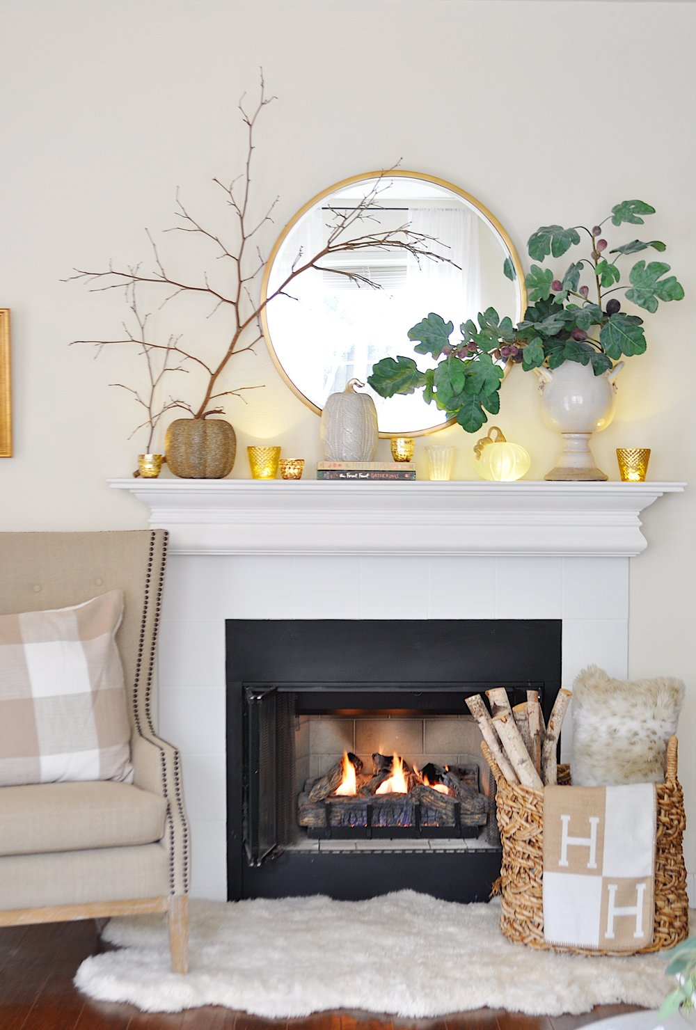 5 Fabulous Fall Mantel Decorating Ideas — 2 Ladies & A Chair