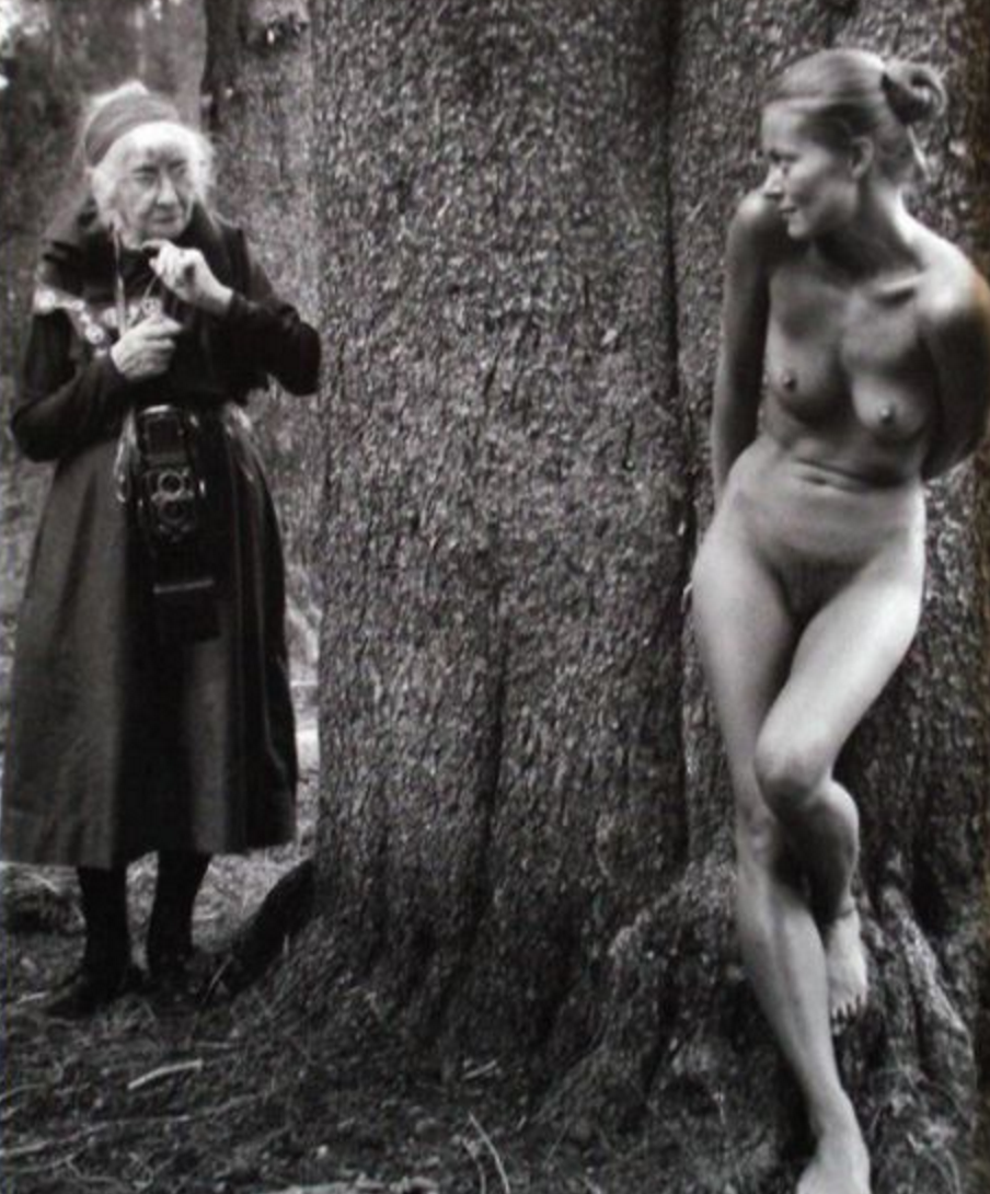 G.W. Einstein Company   Judy Dater (b. 1941)  Imogen and Twinka at Yosemite, 1974 printed 1999  gelatin silver print  14 X 11 inches  Signed and numbered 15/20 verso  Courtesy of the artist and G.W. Einstein Company
