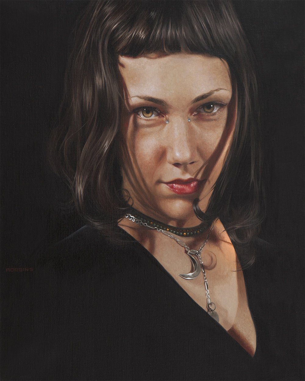 "A Fierce Bowman - 20""x16"" - Oil on linen - Available"
