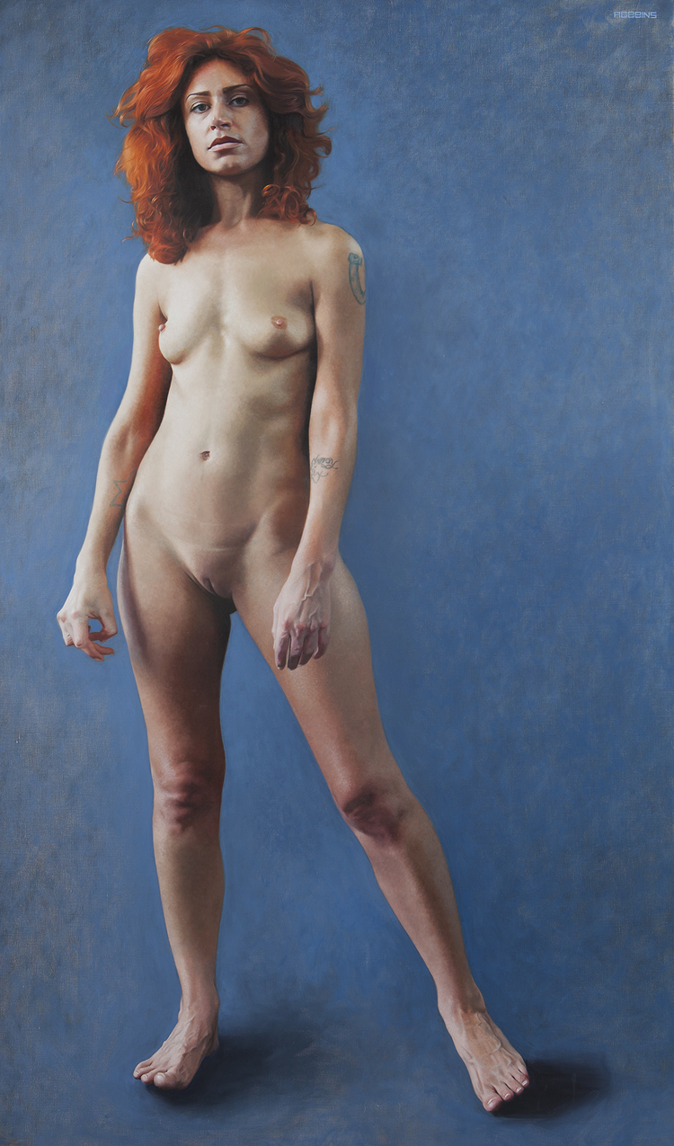 "Davida, 68""x40"", Oil on Linen,  The Count Ibex Collection"