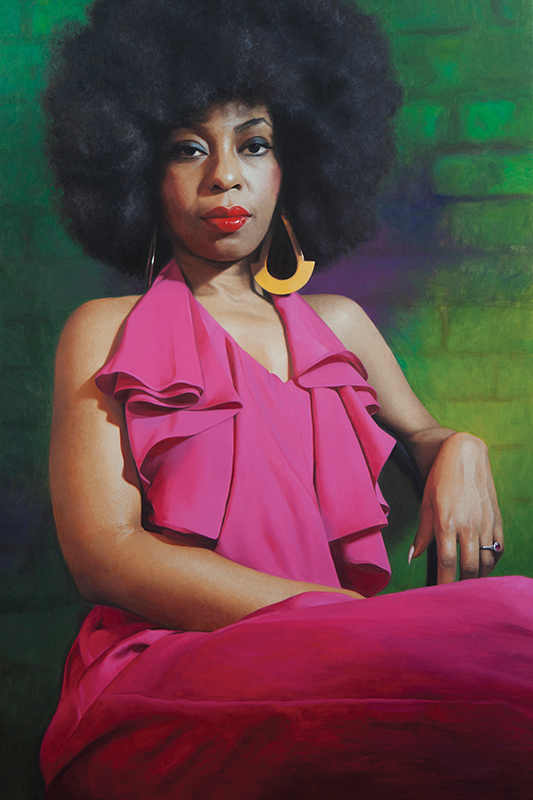 "Lady Marmalade - 36"" x 24""- Oil on linen - Private Collection"