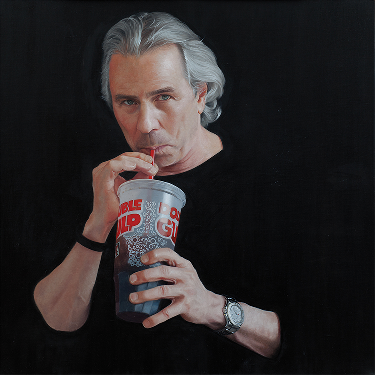 "Double Gulp -  24"" x 24"" - Tullman Collection - Oil on linen"