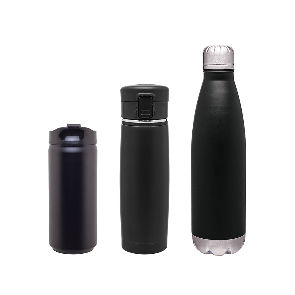 Matte Black Stainless Steel Drinkware