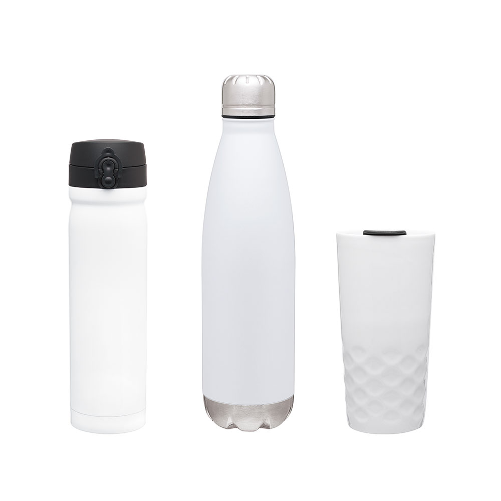 White Vacuum Copper Insulated Drinkware